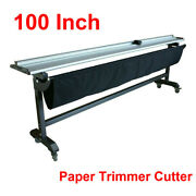 100in Large Format Rotary Paper Trimmer Cutter Machine With Support Stand By Sea
