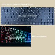 New For Msi Ms-17b4 Ms-17b3 Gp73 Ms-1775 Keyboard French Color Backlit Crystal