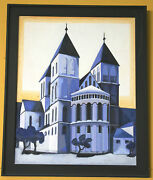 1014- Colognechurch St.kunibert Expressive Painting From Heinz Rose 1991