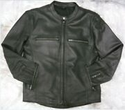 Zap Leather Xvento Men's Perforated Cowhide Motorcycle Jacket Wholesale Avail
