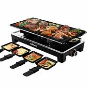 Cusimax Raclette Grill Electric Grill Table Portable 2 In 1 Korean Bbq Grill ...