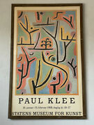 Paul Klee Modern Exhibition Lithograph Poster Vintage Statens Museum Kunst 1959