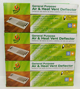 3 Pack Duck General Purpose 10-14 Magnetic Heat And Air Vent Deflector Adjustable