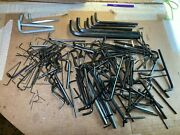 Huge Vintage Allen Hex Wrench Collection Lot - Various Sizes - Big To Tiny