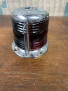 Nml N.m.l. Co. Glass Red Green Boat Bow Light Vintage - National Marine Lamp Co.