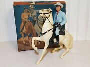 Vintage Hartland The Lone Ranger And Horse Silver 801-lr Action Figure Toy And Box