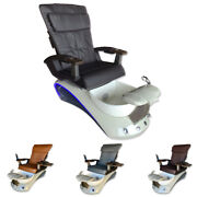 New Pedicure Spa Chair Nail Salon Full Function Massage Chair 138 Black And Grey