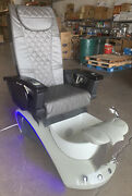 New Pedicure Spa Chair Nail Salon Full Function Massage Built-in Remote Grey