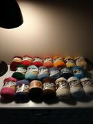 Large Lot 20 Lily Sugar 'n Cream Cotton Yarn Solid Colors 2.5 Oz Each