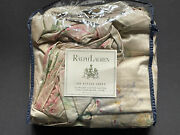 Rare New Therese Sateen Full Queen Duvet Cover Shabby Floral Nip