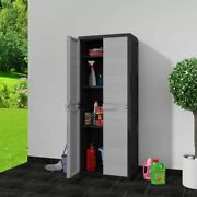 Otviap Garden Storage Cabinet With Doors And Shelves, Outdoor Storage Shed For B