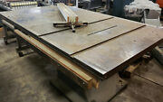 Vintage Tannewitz Works Table Saw Type J-250, 48 X 60 Tilting Table, Cast Iron