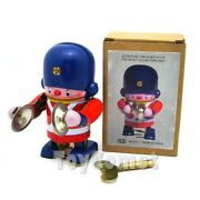 Ms407-1 Little Soldier Marche Cymbal Robot Retro Clockwork Wind Up Tin Toy W/box