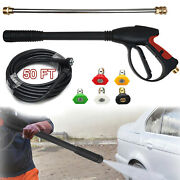 4000psi High Pressure Washer Spray Gun Wand Lance With Nozzle 30ft Hose Kit M22