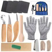 Glarks 26pcs Wood Carving Tools Set 3 Knives In Roll Leather Strop And Polish...