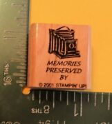 Memories Preserved By Saying Old Fashioned Camera Rubber Stamp By Stampin Up