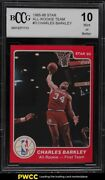 1985-86 Star All-rookie Team Charles Barkley Rookie Rc 3 Bccg 10