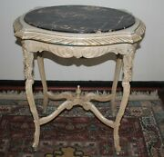 Victorian Marble Top Occasional Table Antique Parlor, Entry Way, Shabby Chic