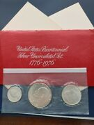 1976 Silver 3 Coin Us Mint Uncirculated Bicentennial Set Free Shipping