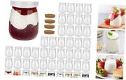 4 Oz -pack Clear Glass Pudding Jars With Pe Lids Glass Containers 4oz 48