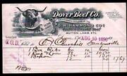 1896 Dover Beef Co - New Hampshire - G H Hammond Co - Vintage Letter Head Rare