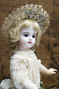 27 Antique French Bebe Doll By Fg Gaultier In Scroll Closed Mouth Size 10