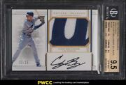 2017 National Treasures Holo Gold Cody Bellinger Rookie Patch Auto /25 Bgs 9.5