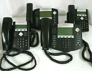 Lot 4 Polycom 2- Soundpoint Ip 335 / 2 Ip 550 / Poe Hd Voip Ip / Factory Reset