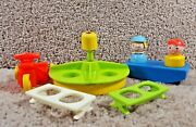 Fisher Price Little People Play Ground School Merry Go Round And Accessories 923