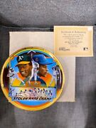 Sports Impressions Collector Plates Rickey Henderson Gold Edition By Ron Lewis