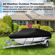 Waterproof Heavy Duty Boat Cover For V-hull Tri-hull Runabout Boat 11ft - 22ft