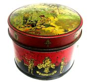 Wwi 1914-1918 Rare Boy Scout Camp Biscuit Tin Vintage Early Swallow And Arielland039s