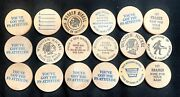 Lot Of 18 Vintage Wooden Nickels Fs Attitude Boot Hill Bridgeton Country
