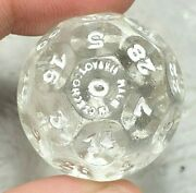 1 And 1/16 Large Rare Czechoslovakian Glass Fortune Telling Antique Marbles Mm