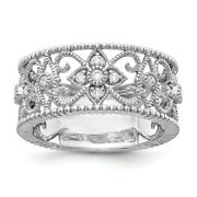 14k White Gold Diamond Vintage Wedding Ring Band Fine Jewelry Women Gifts Her