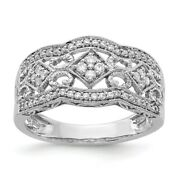 14k White Gold Diamond Vintage Band Ring Fine Jewelry Women Gifts Her