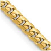 14k Yellow Gold 5mm Solid Miami Cuban Chain Necklace Pendant Charm Curb Domed