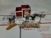 Schleich North America Farm Life Lot Of Miscellaneous Pieces