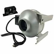 Tjernlund M-49504351 In-line Fan With Current Sensor Switch Dryer Duct Booster M