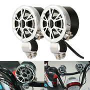Motorcycle Handlebar Mount Mp3 Sound Speakers For Harley Sportster Xl1200 Dyna