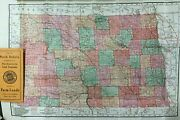Map Of North Dakota Compliments Of Northwestern Land Companies Dealers In Farm
