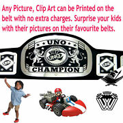 Uno Championship Title Belt Adult Size Family Games Cards Fully Customizable