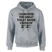 Funny I Survived The Great Toilet Paper Crisis Of 2020 Hoodie