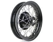 Black Replica 16 45 Solo Front Wheel And Drum For Harley 1930 - 1952 And Servi-car