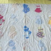 Vintage Sunbonnet Sue 1930s Quilt For Repair Cutter Stained Crafts 72 X 78