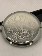 Silver Koi Watch Case Back Cover Fit For Seiko Skx007 S/ Steel Mod Part B30