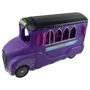 Monster High Doll Huge Purple Deluxe Bus Rv Mobile Salon Spa Vehicle Car Playset