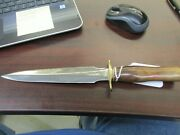 Randall Made Fixed Blade Knife Model 2 Fighting Stiletto Wood Handle