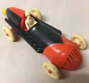 Vintage Plastic Balloon Powered Toy Race Car With Driver