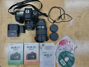 Canon 5d Mark Ii Body Plus Canon Ef 16-35mm F/4 L Lens And 50mm Ef 1.4 Lens